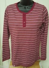 Hasting & Smith NWT Woman's Burgundy/Pink/Brown/White Striped Shirt Size S