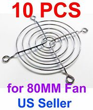 10 PCS 80mm Chrome Metal Computer PC Fan Grill Mounting Finger Guard Protection
