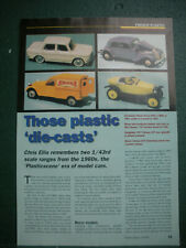 Norev Minialux French Plastic toys collectors article 2 side 1960 Citroen Simica