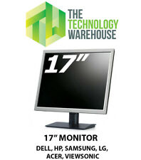 17 Inch Monitor Flatscreen LCD VGA Screen Various Brands Dell HP Samsung Sony