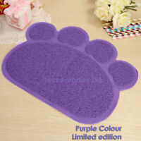 Purple PAW Easylifer Cat Litter Mat Non-slip Food Bowl Feeding Placemat Mat Pet