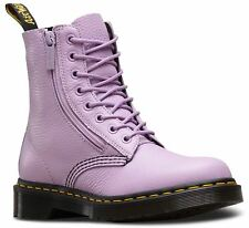 Dr Martens Ladies Pascal Orchid Purple Textured Aunt Sally Leather Zip Boots