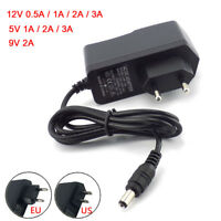 AC DC5V 9V 12V 24V 1A 2A 3A 0.5A Power Supply Adapter US EU Plug LED Strip light