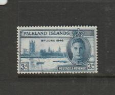 Falkland islands 1946 Victory 3d CROWN FLAW VFU SG 165a