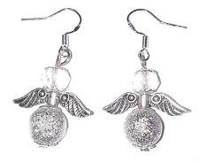 Silver Stardust Crystal Guardian Angel Earrings Christmas Bridesmaid Birthday UK