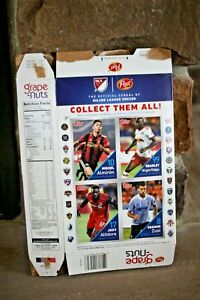 LIMITED EDITION 2018 Grape-nuts Cereal Box  4 Topps Major League Soccer Cards