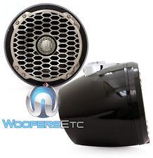 "ROCKFORD FOSGATE PM2652W-MB MINI POD BLACK 6.5"" MARINE WAKEBOARD TOWER SPEAKERS"