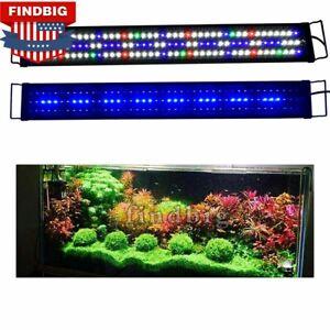 "Aquarium Full Spectrum LED Light Fish Tank Plant Grow Lamp 12""16""24""36""48"" US"