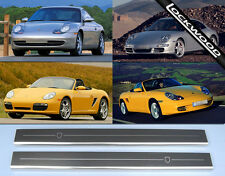 Porsche 911 & Boxster en acier inoxydable Sill Protections/coup De Pied Plaques