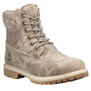 New Timberland 6 Inch Premium Camo Suede Boots US7-9.5 icon work winter shoes