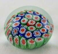 Red Green Blue White Flower Paperweight