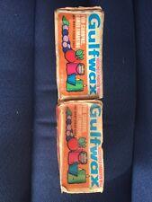 2 Gulfwax Household Paraffin Wax 1 Pound, USA (2lbs Total) Vintage