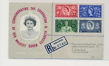 LM73968 Great Britain 1953 to Switzerland registered fine postcard used