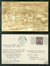 Charlotte rppc SKF Industries Inc North Carolina stamp 1926