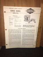 Philco Radio Original Service Manual M-5944