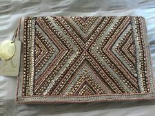 Accessorize - CLEO HAND BEADED CLUTCH BAG - rose gold mix BNWT