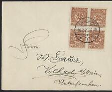 GERMANY DENMARK 1920 SLESVIG DLEBISCIT BLOCK OF 4 ILENSBURG DATE CANCEL 10 2 20