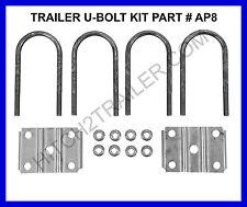 """Trailer U-Bolt Kit Round- 3"""" x 1/2"""" x 7"""", Round Trailer Axle 5,200 - 7,000lb AP8"""