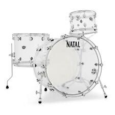 Natal Arcadia Acrylic 3 Piece Drum Kit, Transparent / Clear