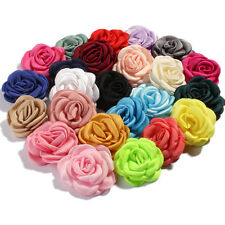 Vintage Burned Hair Flowers For Baby Headbands Hair Accessories 6cm 20pcs