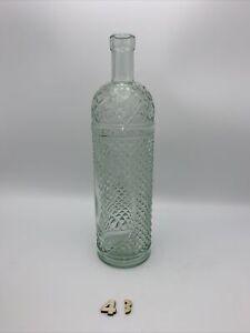 """Clear 12"""" Diamond Pattern Wine Bottle Wine Making"""