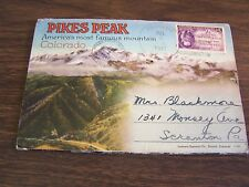 PIKES PEAK COLORADO -  SOUVENIR FOLDER OF 18 IMAGES VERY GOOD - 1947