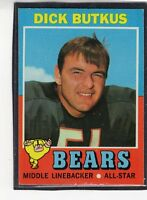 1971  DICK BUTKUS - Topps Football Card- # 25 - CHICAGO BEARS