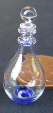 Decantador de cristal Escala 1:12 con una base Azul Casa De Muñecas Beber Accesorio GDK