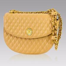 EUC Valentino Orlandi Italian Designer Nude Leather Circle Purse Messenger Bag