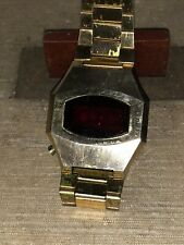 Wittman Red LED Gold Plated Mens Wrist Watch