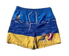 Vintage Polo Ralph Lauren Allover Print Swim Trunks Rivera Beach Mens L