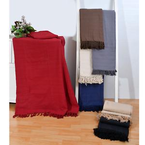 100% Cotton Large Sofa Throw Batton/ Cover Luxury Heavy Quality Sofa Throw Over