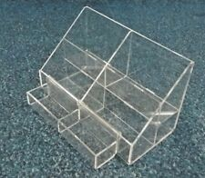 1 NEW 2 PIECE 2 TIER LARGE CLEAR ACRYLIC DISPLAY COUNTER RETAIL STAND 25X16x15cm