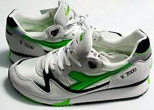 Original Sneakers Diadora V7000 OG 501.161421 01 C3746 Bianco / Verde Fluo