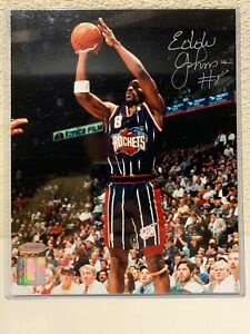 Eddie Johnson Signed Houston Rockets 8x10 Photo Tristar