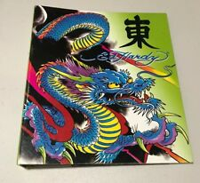 VTG Ed Hardy Dragon 1 Inch Binder Japanese Inspired
