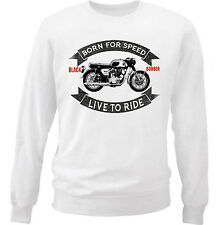 HONDA CB 450 BLACK BOMBER - NEW COTTON WHITE SWEATSHIRT ALL SIZES IN STOCK