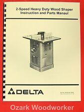 ROCKWELL-Delta 2 Speed Heavy Duty Shaper Operating & Parts Manual 0203