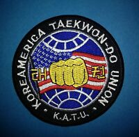 Koreamerica Taekwondo Union K.A.T.U. Martial Arts Jacket Gi Patch TKD MMA 266