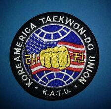 Koreamerica Taekwondo Union K.A.T.U. Martial Arts Jacket Gi Patch TKD MMA 584