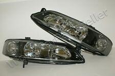 1999-2001 OPEL Vectra B Chrome Black HeadLights Front Lamps VALEO type PAIR