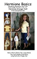 Basics Doll Clothes Sewing Pattern Hermione & Nancy Drew Tonner