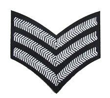 chevron sergent rayures armée militaire SNCO rang blanc noir 3 bars R1815
