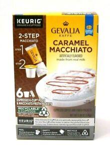 """GEVALIA Kaffe """"Caramel Macchiato"""" Espresso Coffee 6 count K-Cup Pods for Keurig"""