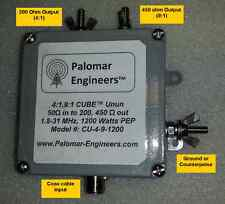 Palomar Engineers CU-4-9-1200 4:1 9:1 Combo Antenna Unun End Fed 1.2KW PEP