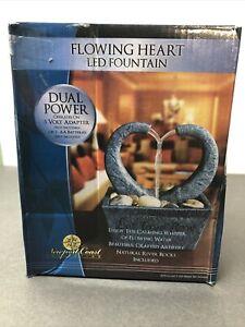 Newport Coast Flowing Heart LED Desktop Water Fountain