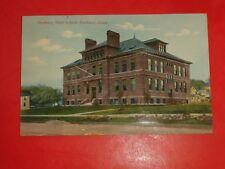 AC839 Vintage 1912 Postcard Danbury High School Danbury Connecticut