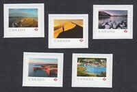 FAR AND WIDE = set of 5 stamps cut from Booklet = MNH Canada 2020 #3221-3225