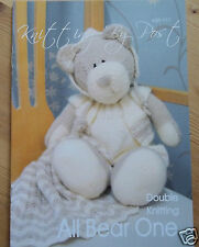 ALL BEAR ONE TOY KNITTING PATTERN FOR TEDDY BEAR CLOTHES & COMFORTER BLANKIE