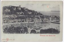 Devon; Torquay From Waldon Hill Novelty Hold to Light PPC, Unposted